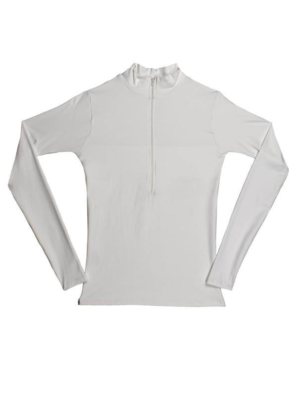 Marcus Shirt with Back Panel in Tactel White