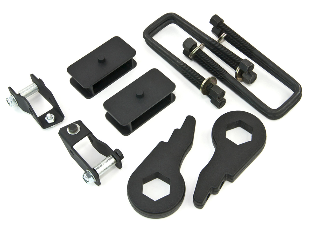 """Forged Full Lift KitFront 1-3/"""" Rear 2/""""GMC Chevy K1500 K2500 88-99 4WD"""