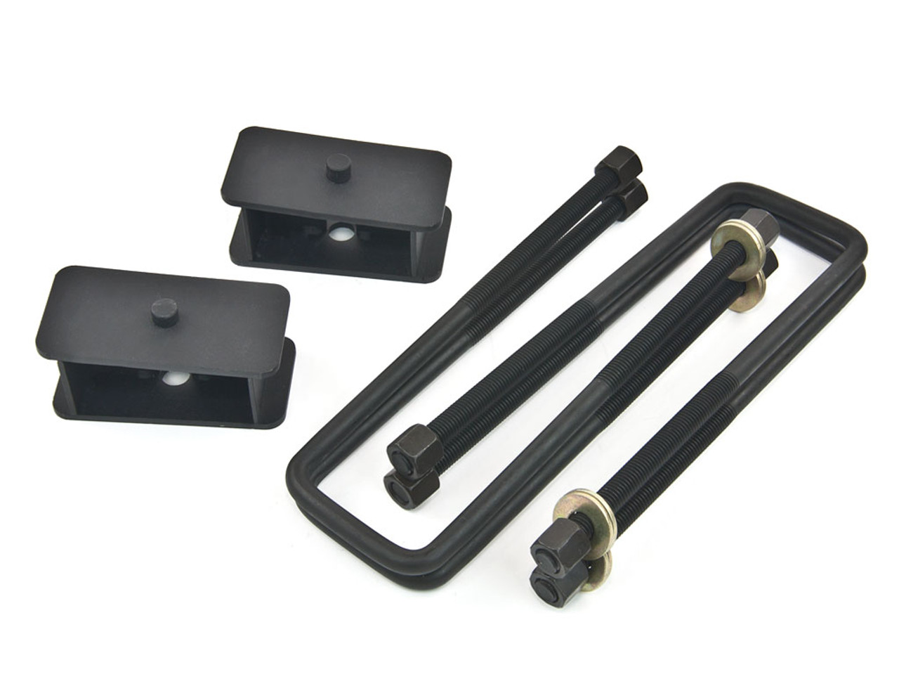 """88-98 GMC Chevy 2WD C2500 C3500 Black Alloy Front 2/"""" Leveling Kit+Shock Extender"""