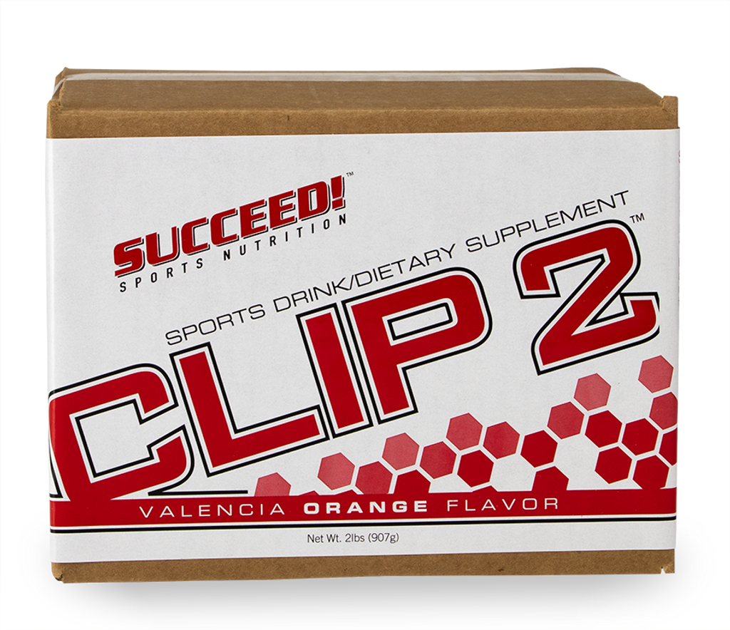 SUCCEED! CLIP2 sports drink is designed for use in lengthy training or racing that last more than 6 hours. It supplies:  • Easily digested carbohydrate for muscle fuel • Branched Chain Amino Acids and protein to preserve the athlete's muscle • Medium Chain Triglyceride to provide energy from fat, and stabilize the digestive tract • Electrolytes to replace those lost in sweat