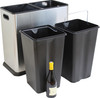 Duo 60 Litre Brushed Stainless Steel Kitchen Recycling Bin