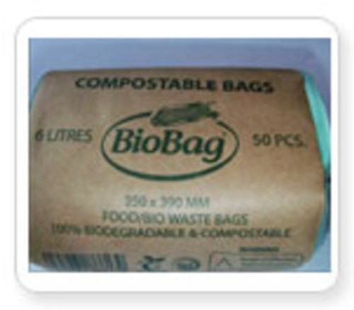 Biodegradable / Compostable Cornstarch 5-6 Litre Small Caddy Liner