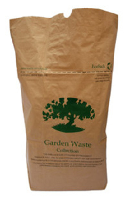 75L Heavy Duty Compostable Garden Paper Sack - Pack Of 15