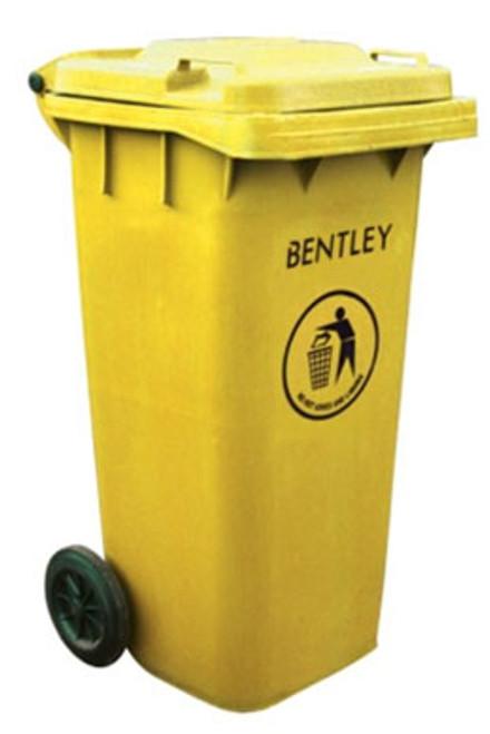 Wheelie Bin in Yellow - 120 Litres