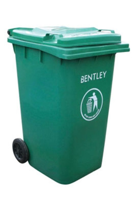 Large Wheelie Bin in Green - 240 Litres