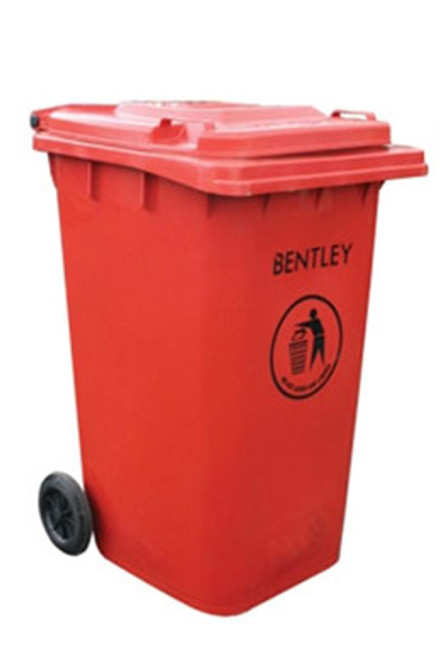 Large Wheelie Bin in Red - 240 Litres