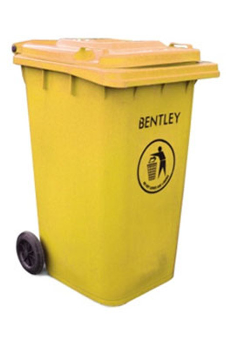 Large Wheelie Bin in Yellow - 240 Litres
