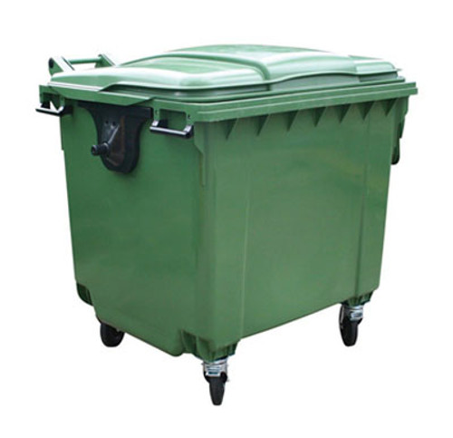 Industrial Green Wheelie Bin - 1100 Litres