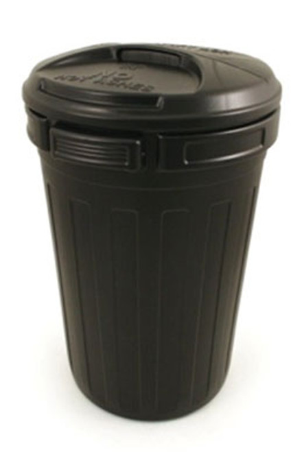 Black dustbin supplied with lid - 80 Litres