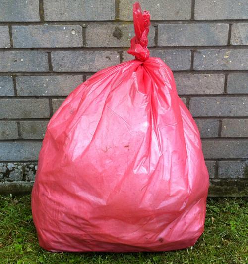"Red Refuse Sack 18x29x39"" 15kg 160g"