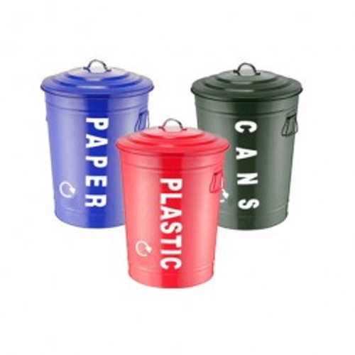 Set of Three Recycling Centre Bins