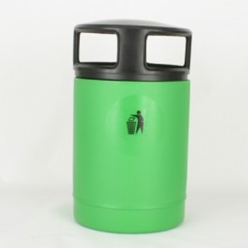 100L litter bin with black screw top