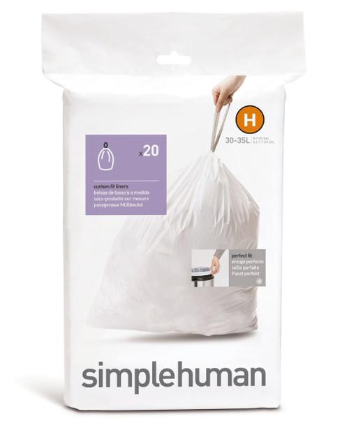 simplehuman bin liner code H