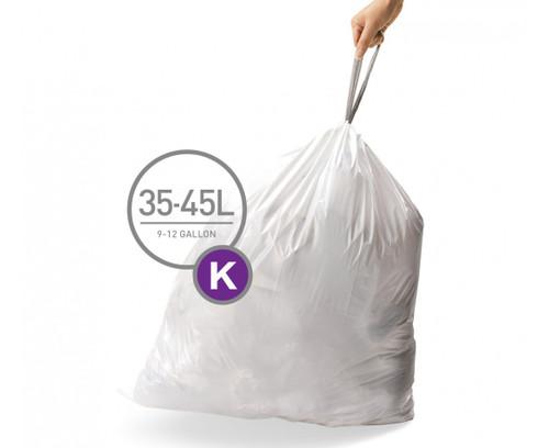 simplehuman bin liner code K