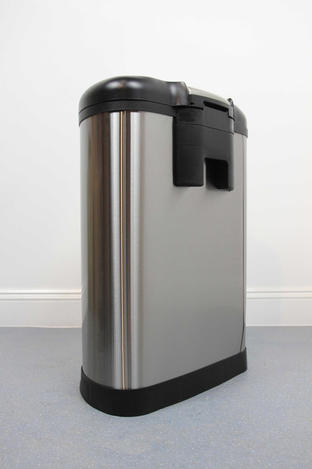 50L Round Brushed Stainless Steel Pedal Bin with Soft Close Lid