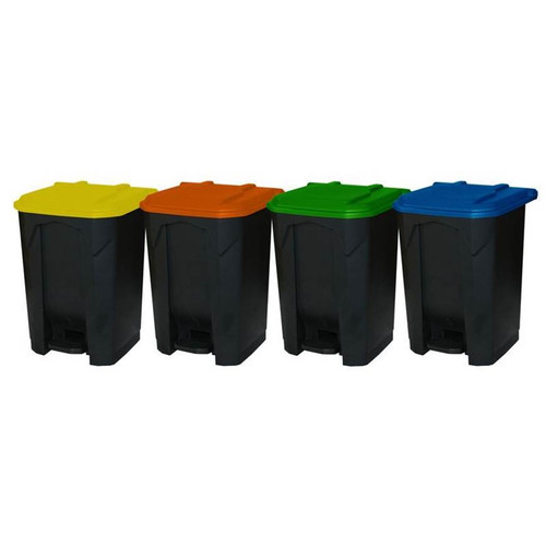 GPC Industries 30L Pedal Bin with Coloured Lid