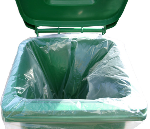 An image of 240 Litre Clear Recycled Wheelie Bin Liners