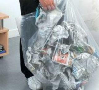 An image of Extra Strong Recycled Clear Bin Liner