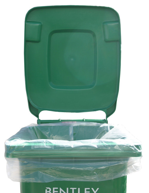 An image of 140 Litre High Quality Recycled Clear Bin Liners - 120 Gauge