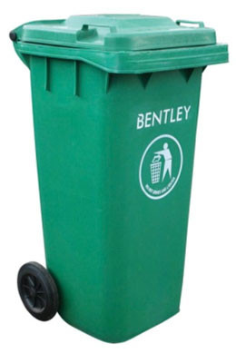 An image of Wheelie Bin in Green - 120 Litres