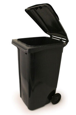 An image of Wheelie Bin in Black - 120 Litres