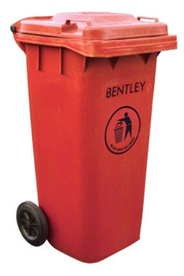 An image of Wheelie Bin in Red - 120 Litres