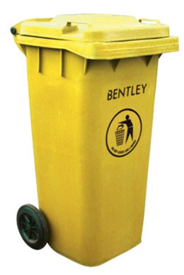 An image of Wheelie Bin in Yellow - 120 Litres