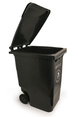 An image of Large Wheelie Bin in Black - 240 Litres