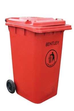 An image of Large Wheelie Bin in Red - 240 Litres