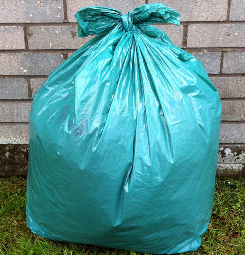 """An image of Green Refuse Sack 18x29x39"""" 15kg 160g"""