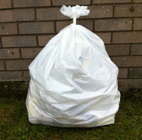 """An image of White Refuse Sack 18x29x39"""" 20kg 160g"""