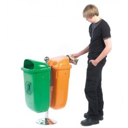 An image of Recycling Bins on a Post