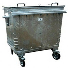 An image of Galvanised Waste Bin - 450kg Max Load