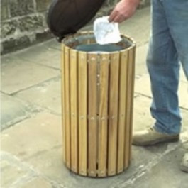 An image of WTS/2 Circular Slatted Top Litter Bin