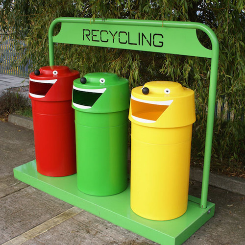 An image of Face Recycling Bin