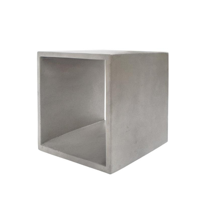 Modrest Diaz Modern Grey Concrete End Table VGLBCUBE-SQ40-C03 By VIG Furniture