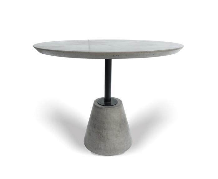 Modrest Nathrop - Modern Grey Concrete & Black Metal Round Dining Table VGGR614190 By VIG Furniture