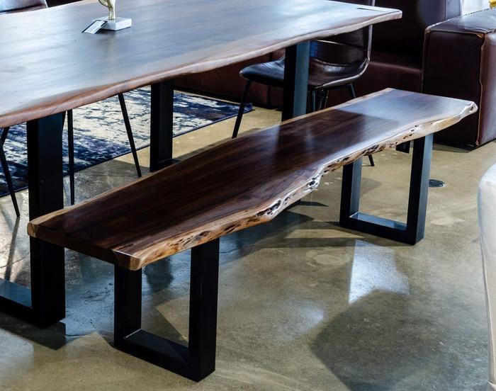 Modrest Taylor Modern Live Edge Wood Dining Bench By VIG Furniture