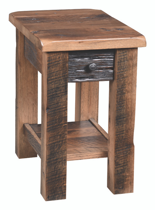 RPMCST15 Reclaimed Post Mission Collection Chair Side Table By Frog Pond Furniture