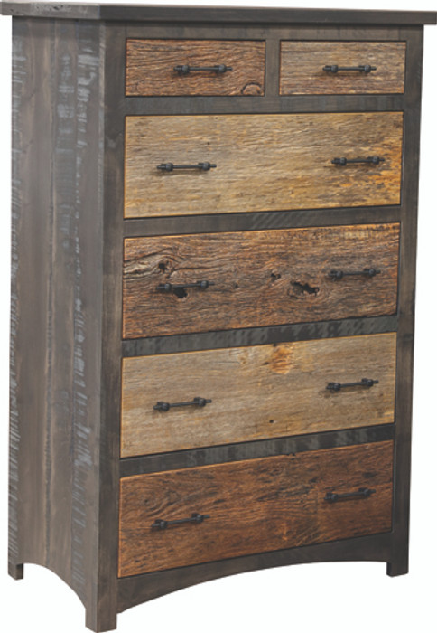 807 Reclaimed Barn Floor Mission Collection Chest Of Drawers By Frog Pond Furniture