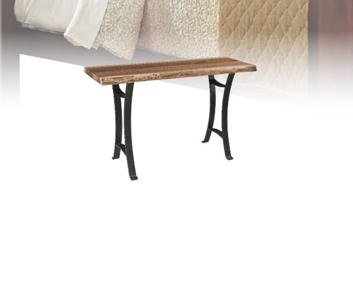 """KST48 Kingston Live Edge Tables Collection 48"""" Sofa Table By Frog Pond Furniture"""