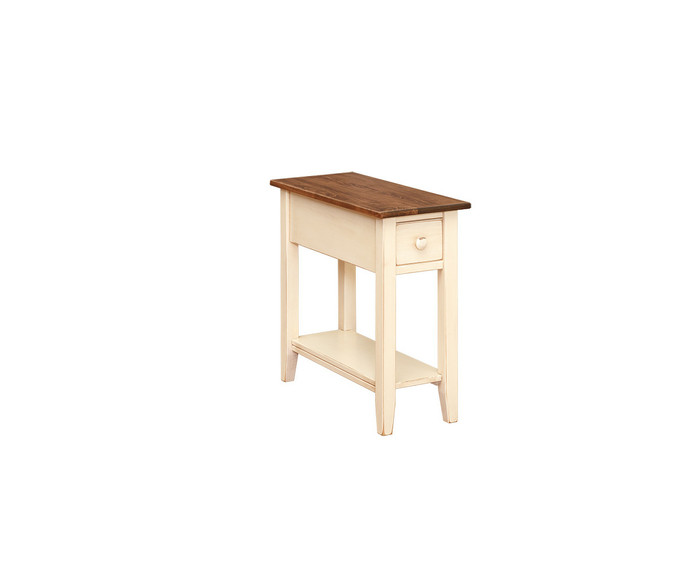T112 Chair Side With Drawer & Shelf By Forest Ridge Woodworking