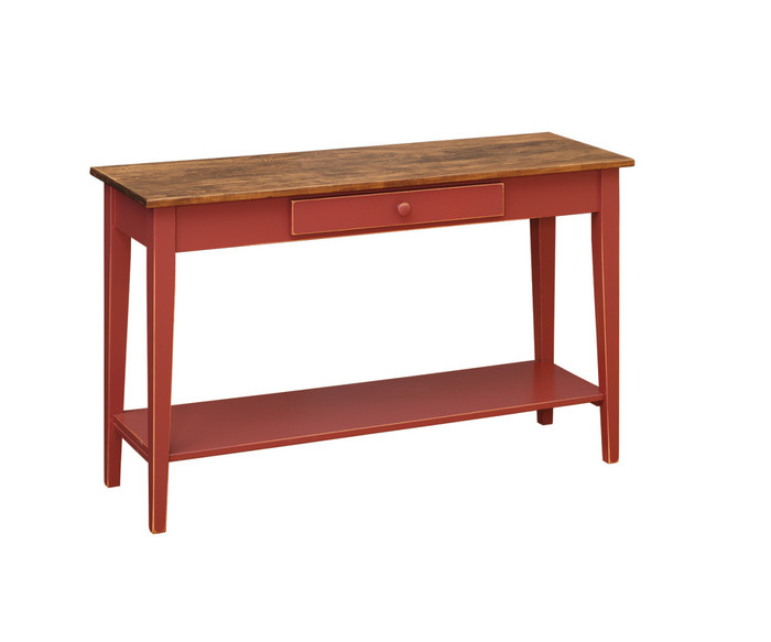 T99A Shaker Sofa Table With Shelf By Forest Ridge Woodworking
