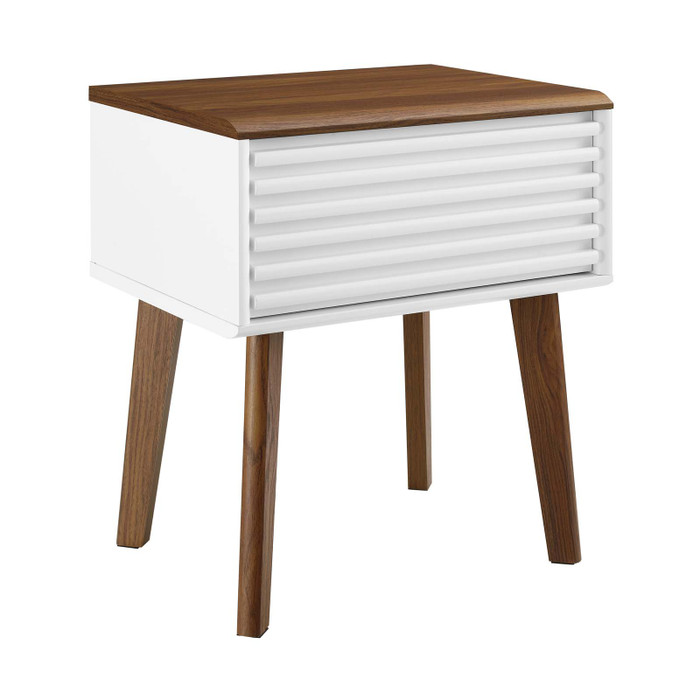 EEI-3345-WAL-WHI Render End Table By Modway