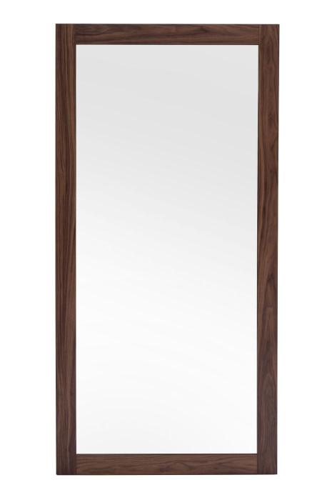 Modrest Amberlie - Modern Walnut Floor Mirror VGMABR-96-WAL-MIR