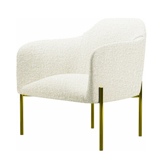 Divani Casa Calhan - White Sherpa Accent Chair VGMFOC-2227-WHT-CH
