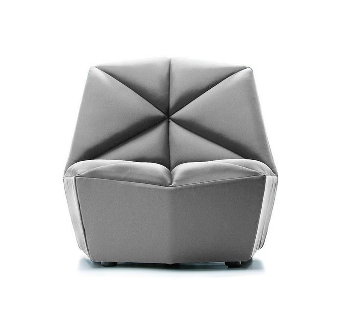Divani Casa Tomlin - Contemporary Grey Woven Fabric Accent Chair VGODZW-20092-GRY-CH