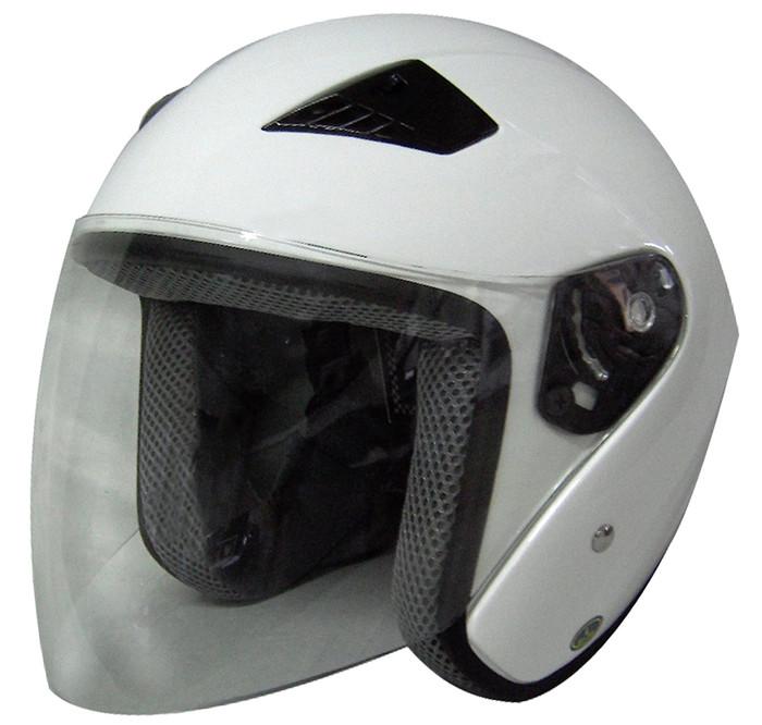 RK5W Rk5W - White Dot Motorcycle Helmet Rk-5 Open Face With Flip Shield By Nuorder