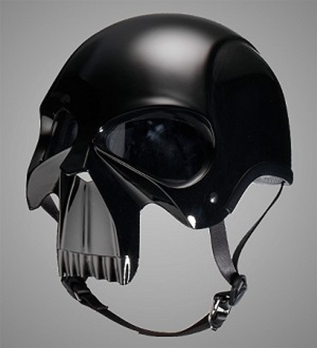 OM Dot Gloss Skull Motorcycle Helmet By Nuorder