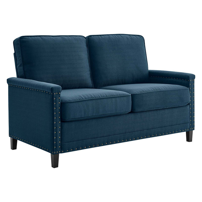 EEI-4985-AZU Ashton Upholstered Fabric Loveseat By Modway